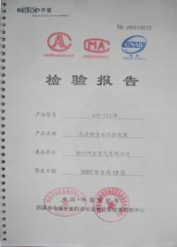 AJY-31/W 检验报告